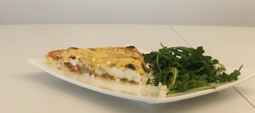 Quiche thon-tomates (sans pâte)