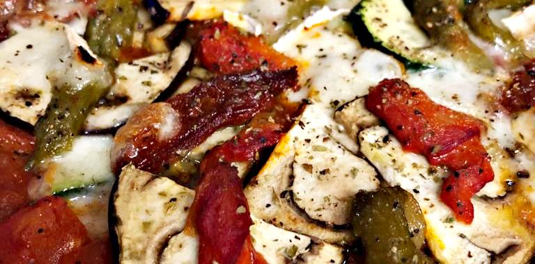 Petites Pizzas aux légumes du soleil